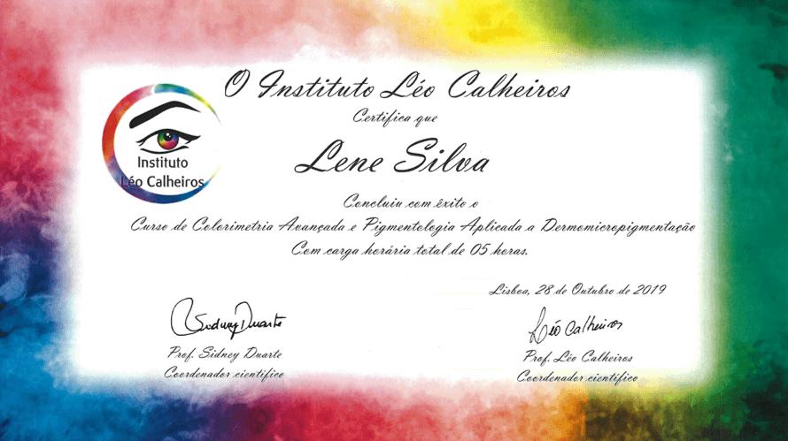 Certificado Colorimetria Lene Silva